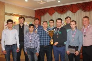 Серебряные призеры Чемпионата области с тренером А.С.Федотовым