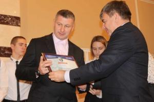 Награждение тренера команды А.А.Семенова за 2место в Первенстве области среди младших юношей